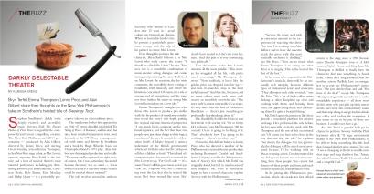 Sweeney Todd chats w/ Emma Thompson, Bryn Terfel & Lonny Price